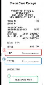 アメリカにおけるクレジットカードを用いたチップの払い方